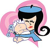 Mom With Baby Clip Art