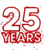 abstract 25 year clipart