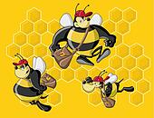 Cartoon bees