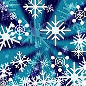 Blue Snowflakes Background Means Freezing Seasons And Christmas