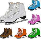 The set women\'s figure ice skate