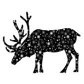 Reindeer with snowflakes