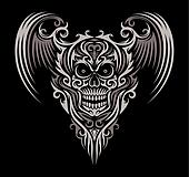 Ornate Winged Skull