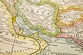 Persian Gulf on vintage map