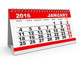 Calendar January 2016.