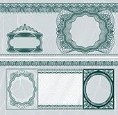Blank banknote layout