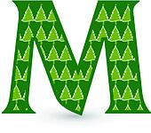 Letter M Christmas tree