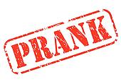 Prank red stamp text