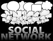 SOCIAL NETWORK media speech bubble cloud