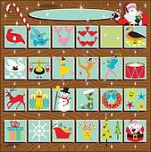 Santa\'s Retro Advent Calendar