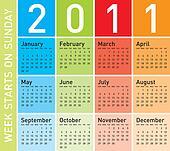 Colorful Calendar 2011