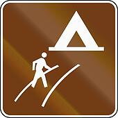United States MUTCD guide road sign - Walk-In Camp