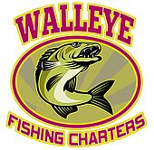 walleye fish fishing charter