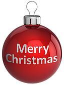 Merry Xmas bauble classic