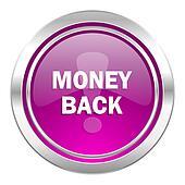 money back violet icon