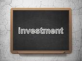 Business concept: Investment on chalkboard background