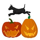 Halloween Dog Illustration