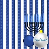 Happy Hanukkah Illustration
