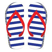 flip flop blue and white color