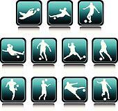 football team icon illustration
