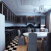 Black And White Kitchen Interior