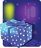 Decorative gift box with ribbon