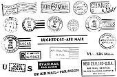 Vintage postal marks
