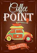 Poster coffe point.