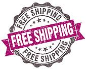 Free shipping violet grunge retro vintage isolated seal