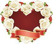 Vector white Rose Frame