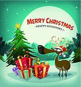Merry Christmas Holidays Background