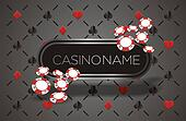 casino banner with playing card ba