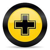 pharmacy black yellow web icon