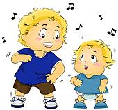 Kid Teaching Baby to Dance
