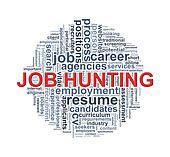 Circular wordcloud design job hunting word
