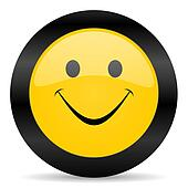 smile black yellow web icon