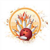 bowling strike background