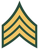 American rank of sergeant insignia