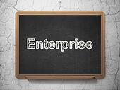 Business concept: Enterprise on chalkboard background