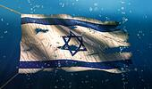 Israel Under Water Sea Flag National Torn Bubble 3D