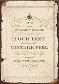 Vector Vintage Parchment Poster Template