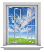 Open window allowing fresh air in