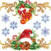 Christmas design elements set 4.