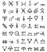 Runes. occult symbols