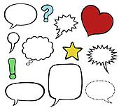 Comics speech balloons / bubbles