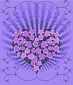 Gothic Card With Ivy Heart