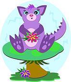 Purple Dragon on a Mushroom