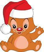 Christmas Waving teddy bear