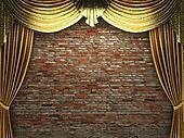 golden curtain opening scene