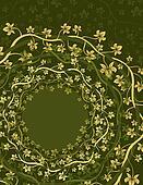 Floral Vine Circles